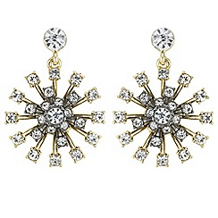 Butterfly by Matthew Williamson - Designer crystal starburst earrings
