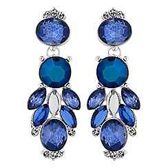 Butterfly by Matthew Williamson - Designer tonal blue crystal cluster earrings