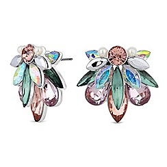 Butterfly by Matthew Williamson - Designer crystal cluster stud earrings