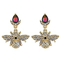 Butterfly by Matthew Williamson - Crystal bee drop earrings