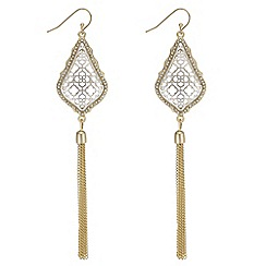 Butterfly by Matthew Williamson - Filigree and tassel drop earrings