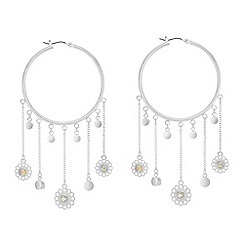 Butterfly by Matthew Williamson - Charm drop hoop earrings