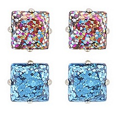 Butterfly by Matthew Williamson - Multi colour glitter earrings set