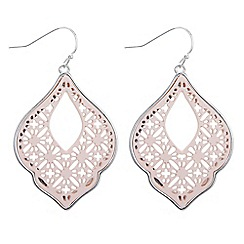 Butterfly by Matthew Williamson - Pink filigree drop earrings