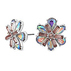 Butterfly by Matthew Williamson - Crystal layered flower earrings