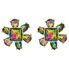 Butterfly by Matthew Williamson - Rainbow crystal flower earrings