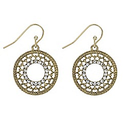 Butterfly by Matthew Williamson - Crystal filigree circle earrings