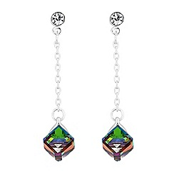 Butterfly by Matthew Williamson - Crystal cube drop earrings
