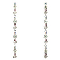 Butterfly by Matthew Williamson - Crystal floral drop earrings