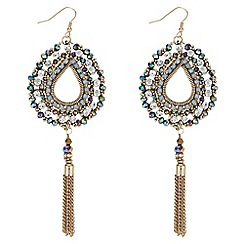 Butterfly by Matthew Williamson - Crystal beaded peardrop earrings