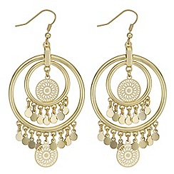Butterfly by Matthew Williamson - Filigree coin drop earrings