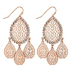 Butterfly by Matthew Williamson - Filigree peardrop earrings