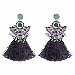 Butterfly by Matthew Williamson - Crystal tassel drop earrings