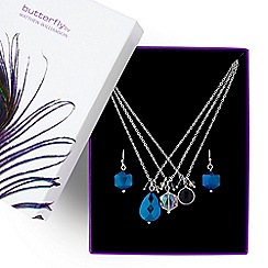 Butterfly by Matthew Williamson - Designer multi layer crystal jewellery set