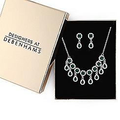 Butterfly by Matthew Williamson - Designer crystal peardrop jewellery set in a gift box