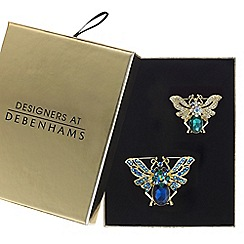 Butterfly by Matthew Williamson - Crystal butterfly brooch set in a gift box