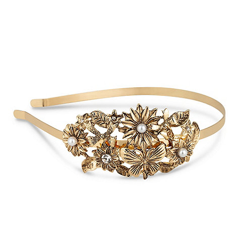 Butterfly by Matthew Williamson - Designer flower and bow metal hairband