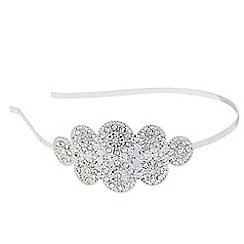 Butterfly by Matthew Williamson - Designer Silver crystal art deco hair band