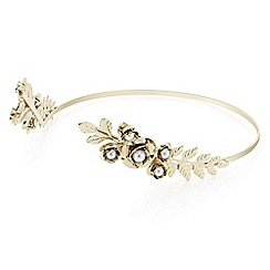 Butterfly by Matthew Williamson - Designer gold leaf halo headband
