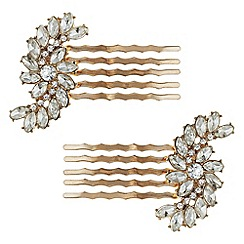 Butterfly by Matthew Williamson - Designer rose gold swirl hair comb set