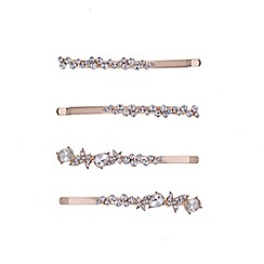 Butterfly by Matthew Williamson - Designer rose gold hair slide set
