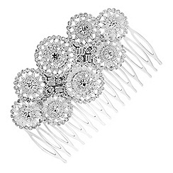 Butterfly by Matthew Williamson - Designer silver circle hair comb