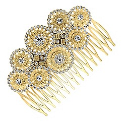 Butterfly by Matthew Williamson - Designer gold circles hair comb
