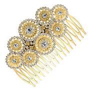 Designer gold circles hair comb