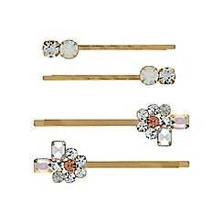 Butterfly by Matthew Williamson - Crystal cluster hair slide set
