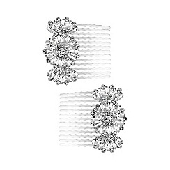 Butterfly by Matthew Williamson - Silver crystal hair comb set
