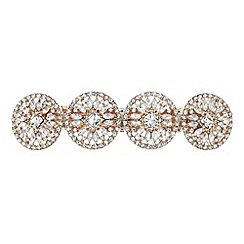 Butterfly by Matthew Williamson - Designer rose gold crystal disc hair clip