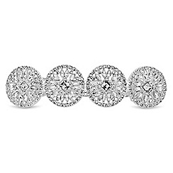 Butterfly by Matthew Williamson - Designer silver crystal disc hair clip