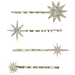 Butterfly by Matthew Williamson - Designer crystal star hair slide set