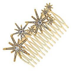 Butterfly by Matthew Williamson - Designer gold star hair comb