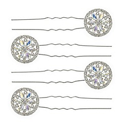 Butterfly by Matthew Williamson - Ornate crystal disc hair pin set