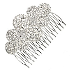 Butterfly by Matthew Williamson - Crystal circle cluster hair comb