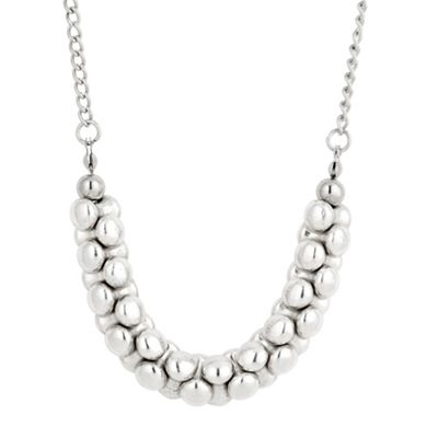 Butterfly by Matthew Williamson Antique silver banana disc long necklace - . -