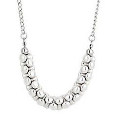 Butterfly by Matthew Williamson - Antique silver banana disc long necklace