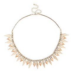 Butterfly by Matthew Williamson - Designer mixed metal shard drop necklace