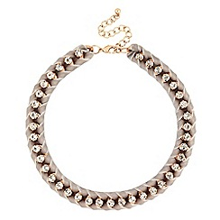Butterfly by Matthew Williamson - Designer grey plaited crystal chain necklace