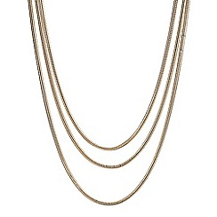 Butterfly by Matthew Williamson - Designer triple snake chain necklace