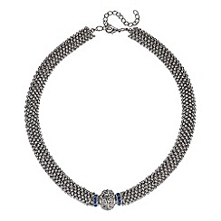 Butterfly by Matthew Williamson - Designer blue rondel and million ball necklace