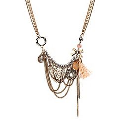 Butterfly by Matthew Williamson - Designer multi charm tassel necklace