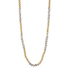 Butterfly by Matthew Williamson - Designer gold and grey facet bead long necklace