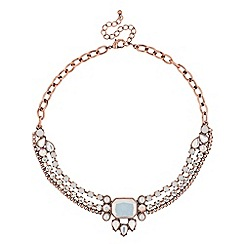 Butterfly by Matthew Williamson - Designer opalesque rose gold collar necklace