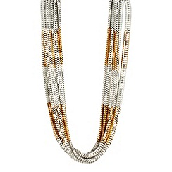 Butterfly by Matthew Williamson - Designer cream spray effect multirow necklace
