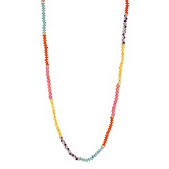 Butterfly by Matthew Williamson - Designer multicoloured facet bead rope necklace