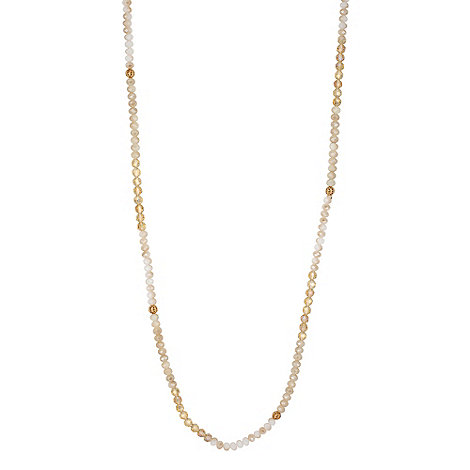 Butterfly by Matthew Williamson - Designer neutral facet bead necklace