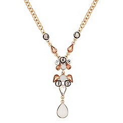 Butterfly by Matthew Williamson - Designer pastel stone set y drop necklace