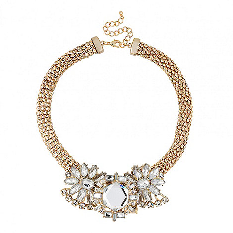 Butterfly by Matthew Williamson - Designer statement crystal cluster mesh chain necklace